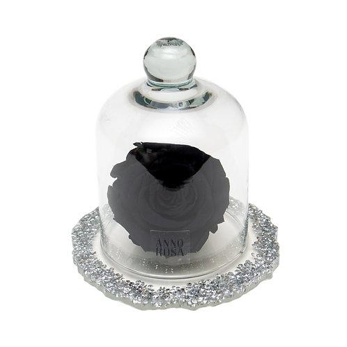 DIAMANTE BELLE SINGLE INFINITY ROSE - BLACK