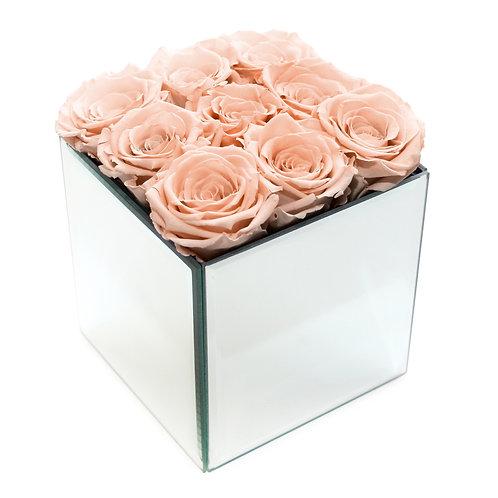 INFINITY ROSE BOX - PEACH