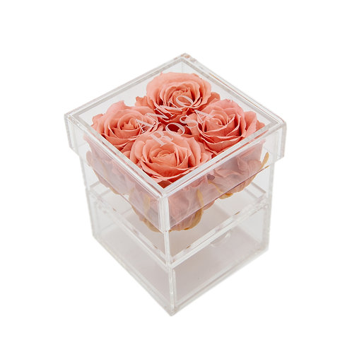 BLUSH INFINITY ROSE KEEPSAKE BOX