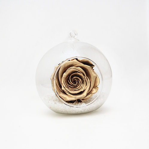Gold Infinity Rose in Bauble