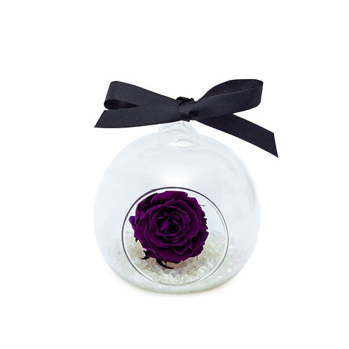 SMALL ROSE BAUBLE - PURPLE