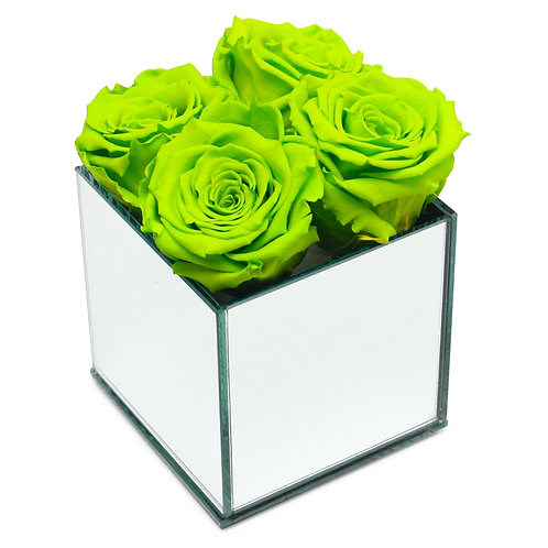 INFINITY ROSE BOX - BRIGHT GREEN