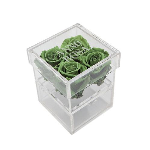 SAGE GREEN INFINITY ROSE KEEPSAKE BOX