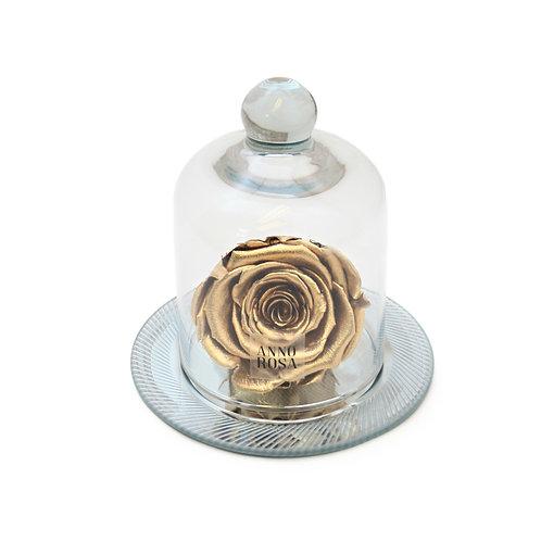GEOMETRIC BELLE SINGLE INFINITY ROSE - GOLD