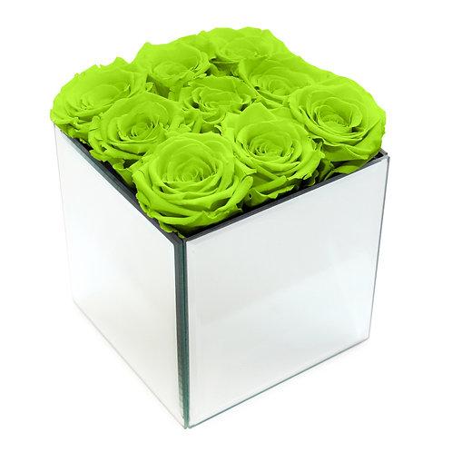 INFINITY ROSE BOX - BRIGHT GREEN