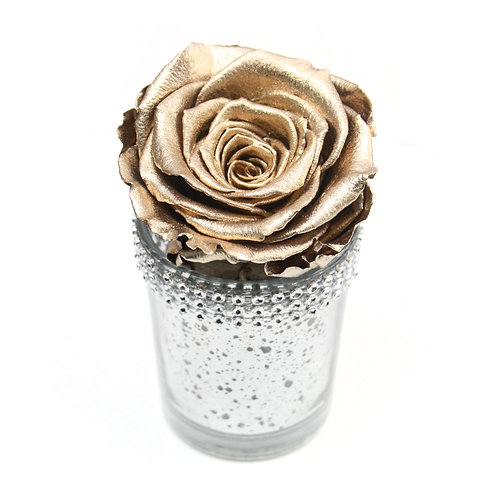 Gold Infinity Rose that lasts a year