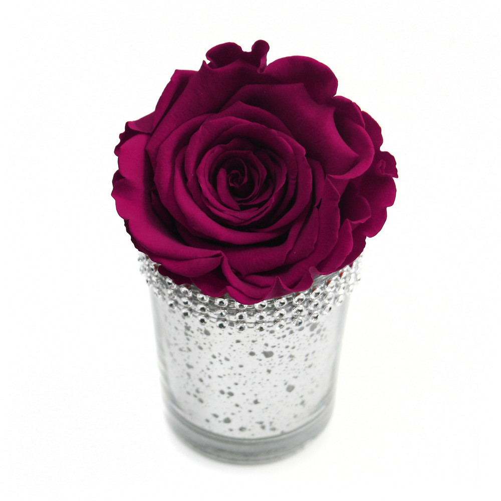 Preserved Eternity Rose Diamanté Vase