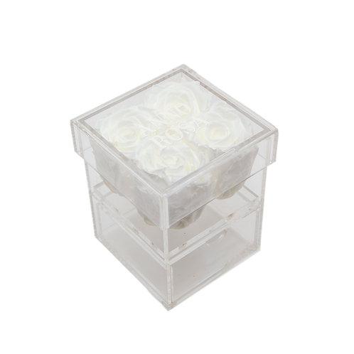 WHITE INFINITY ROSE KEEPSAKE BOX