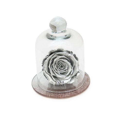 ROSE GOLD BELLE SINGLE INFINITY ROSE - SILVER