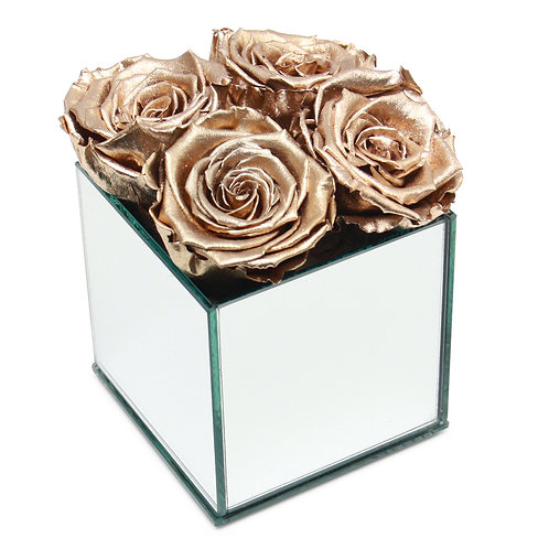 INFINITY ROSE BOX - GOLD