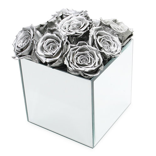 INFINITY ROSE BOX - SILVER