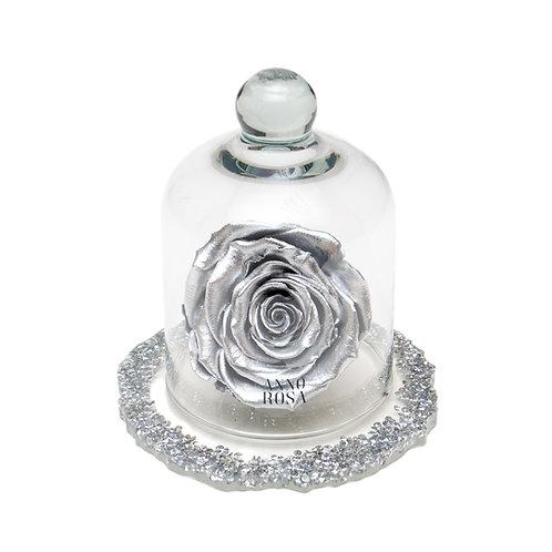 DIAMANTE BELLE SINGLE INFINITY ROSE - SILVER