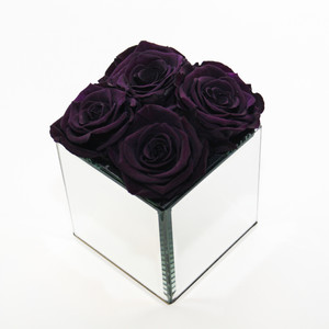 Deep purple preserved year long roses. Stylish interior design ideas and great gift ideas.