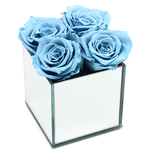 INFINITY ROSE BOX - BABY BLUE