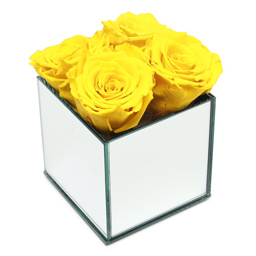 INFINITY ROSE BOX - YELLOW
