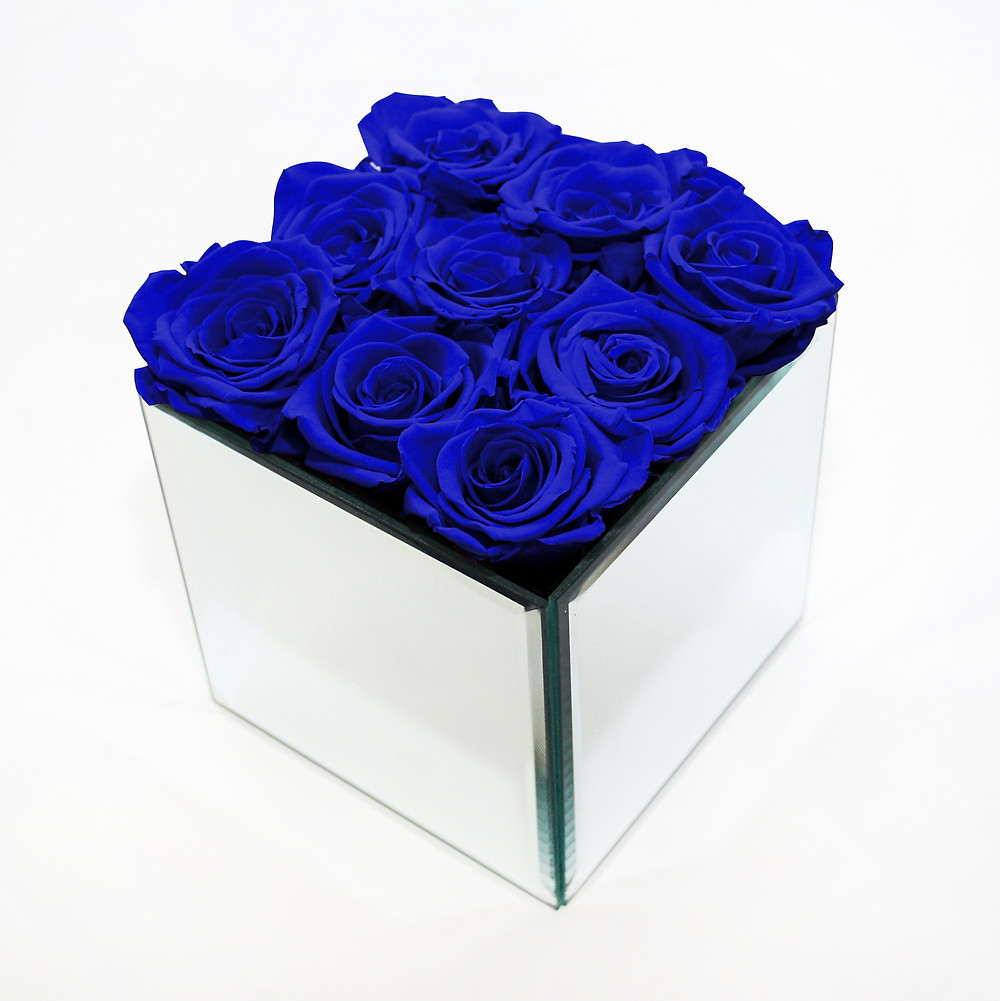 Preserved Navy Blue Eternity Roses That Last A Year