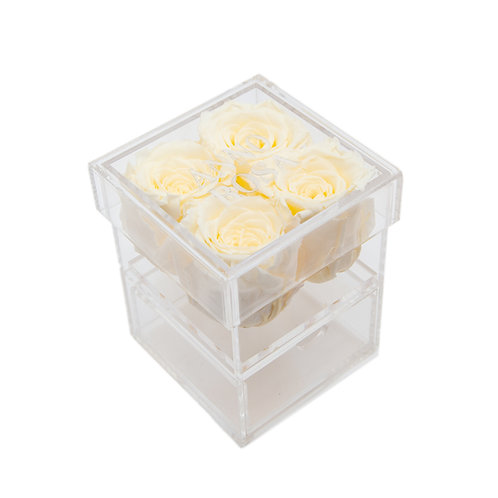 CREAM INFINITY ROSE KEEPSAKE BOX