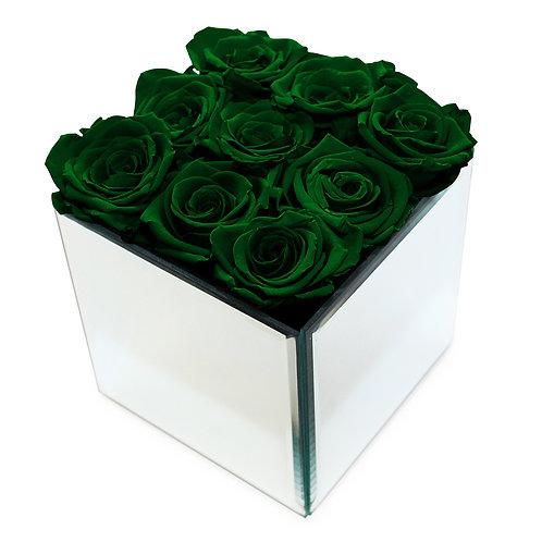 INFINITY ROSE BOX - GREEN