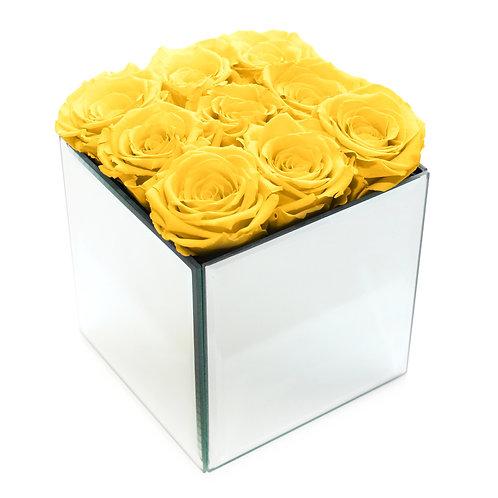 INFINITY ROSE BOX - YELLOW