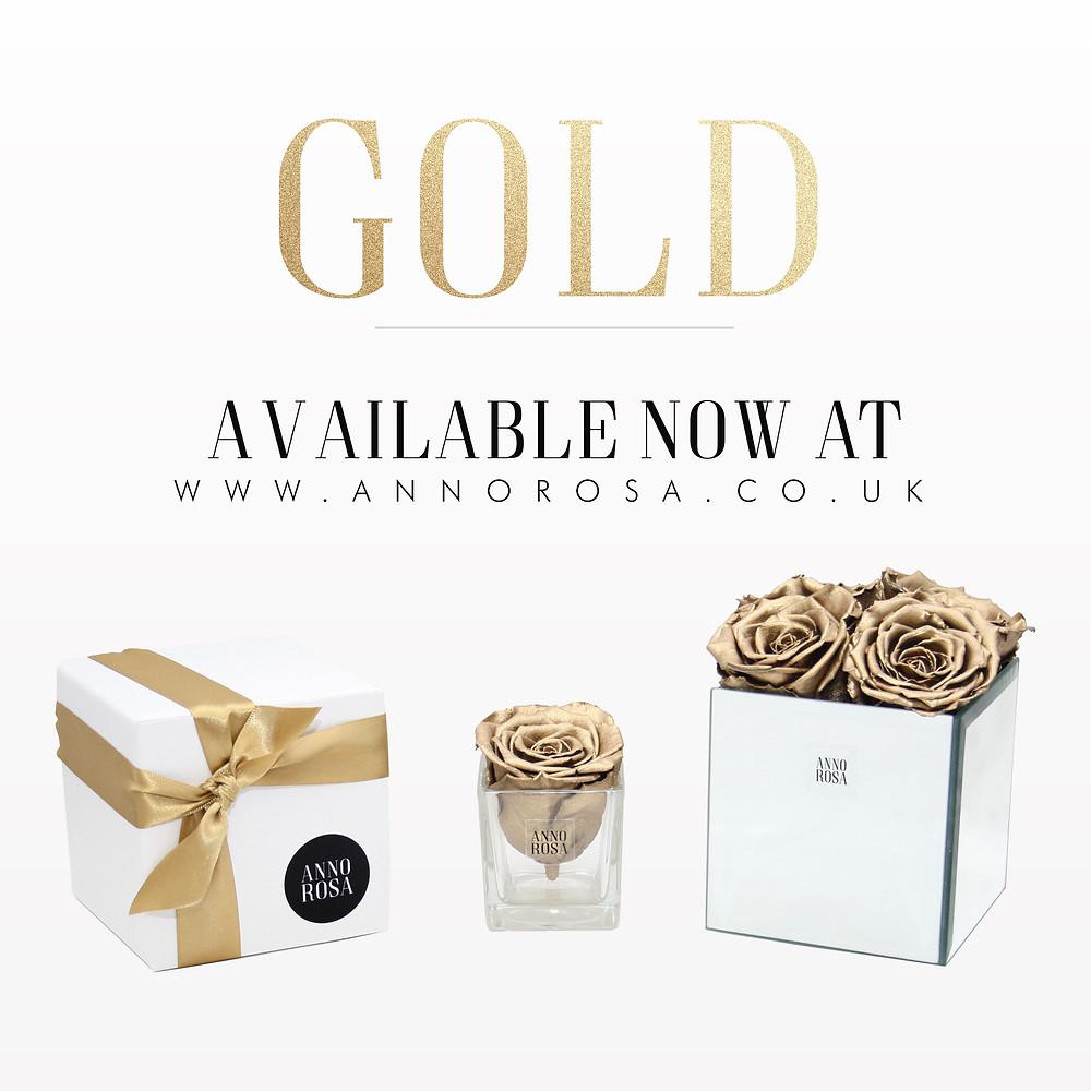 Gold Infinity Roses at Anno Rosa