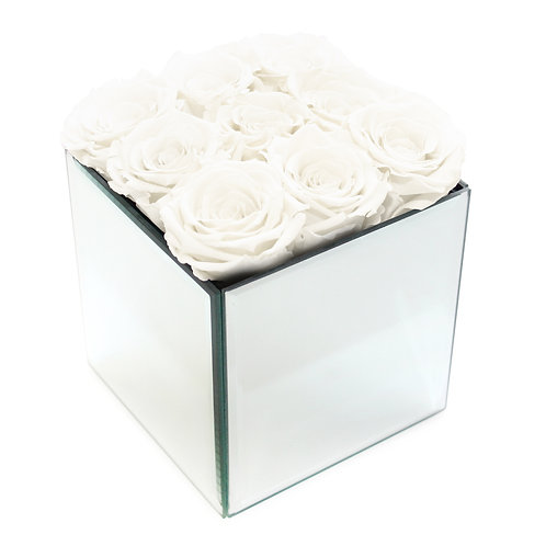 INFINITY ROSE BOX - WHITE