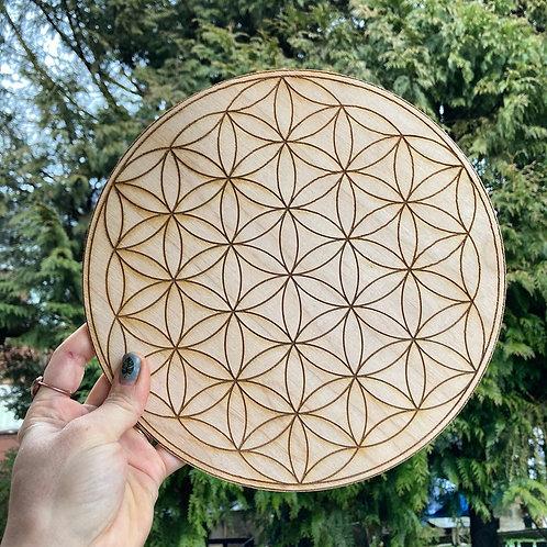 "Large 9"" Crystal Grid Board"