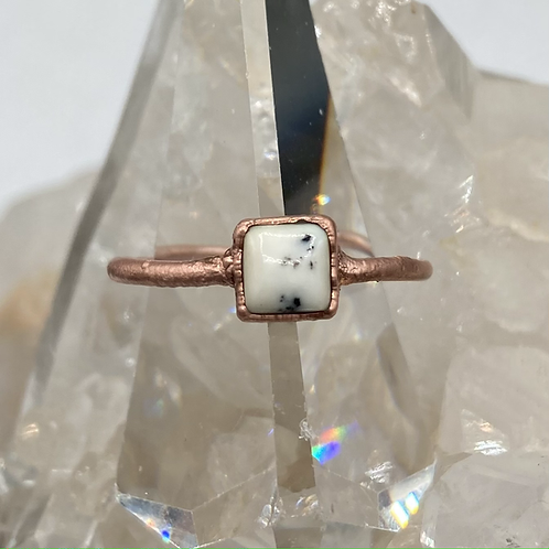 Dendritic Opal Ring Size ~9.5
