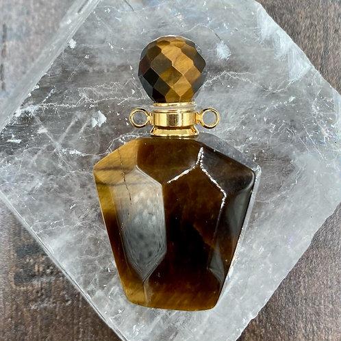 Tiger Eye  Perfume Bottle