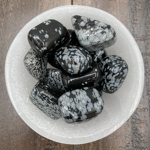 Snowflake Obsidian Tumble