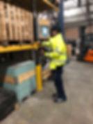 Inspection of storage racks.