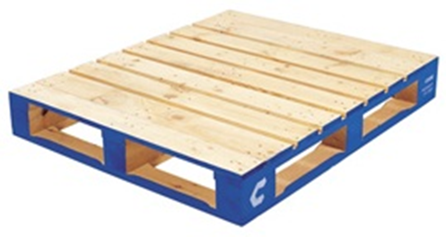 UK type 1,200mm x 1,000mm CHEP pallet.