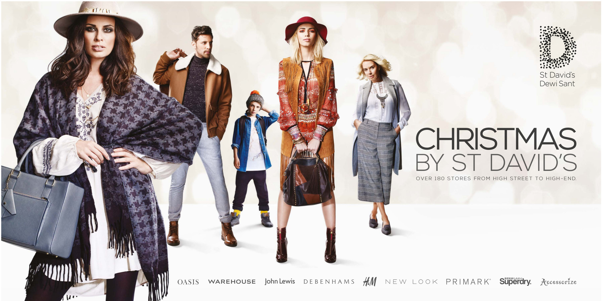 Christmas By St David's- AW2015 Print Campaign - Cardiff