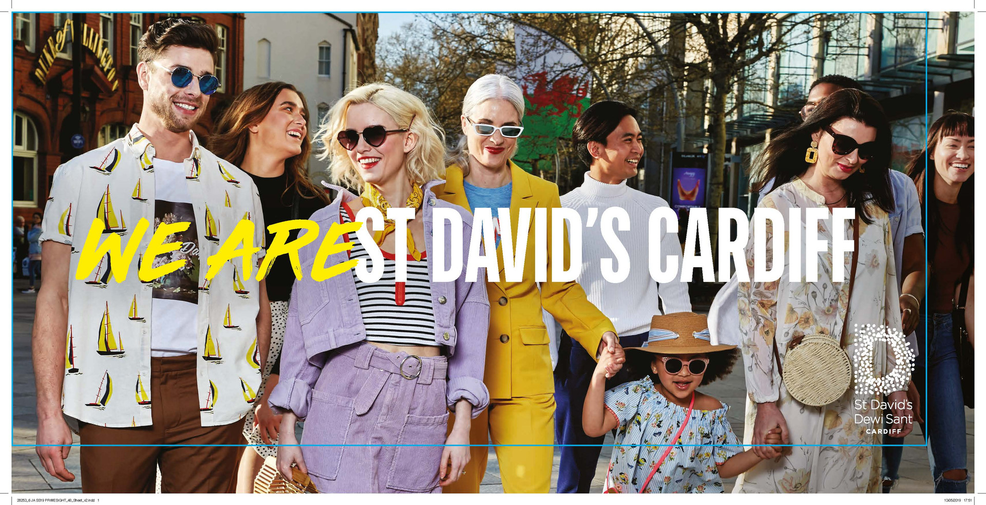 We Are St David's Cardiff - SS19 Print Campaign - Billboard