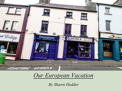 Our European Vacation Book