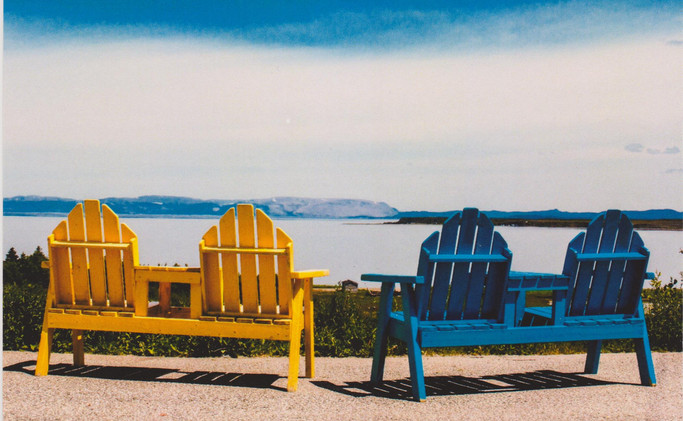 Benches with a view, York Harbour