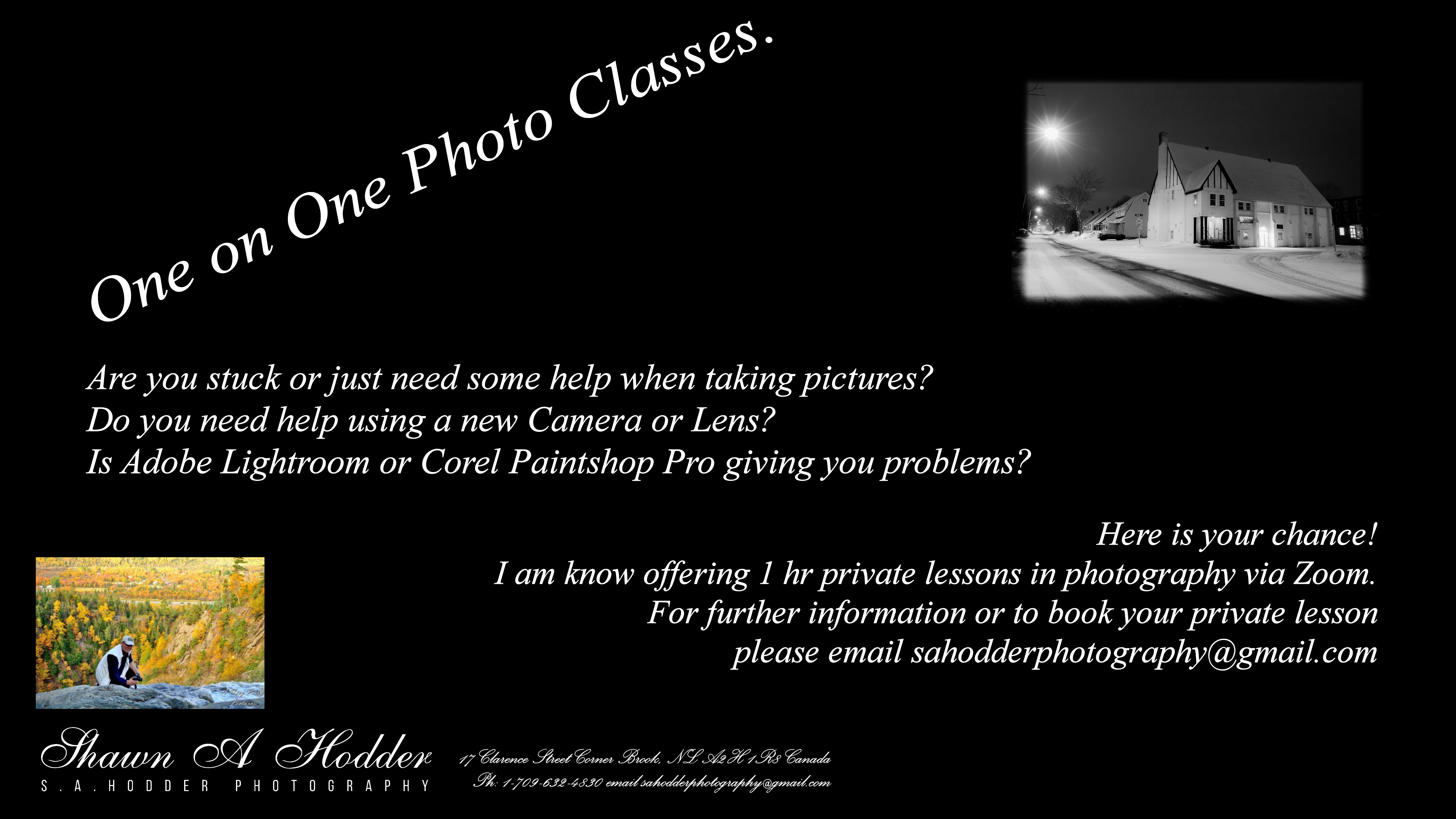 Private Online Photo Class