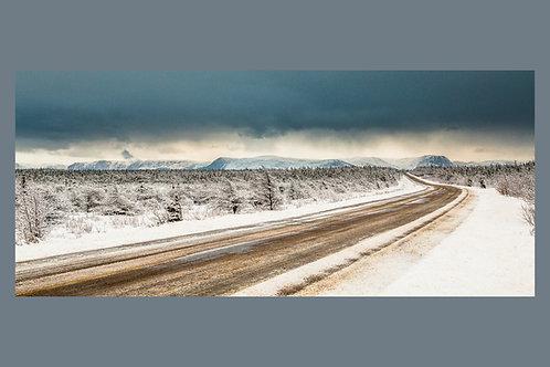 Winter Road to Long range mountain