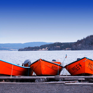 Three boat on shore