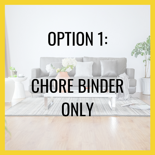 Chore BINDER and How to Printables