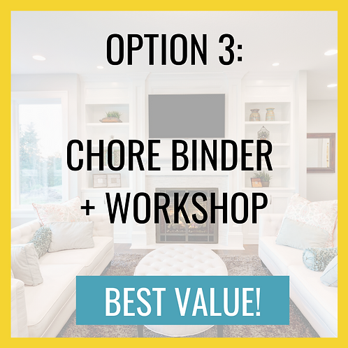 Chore BINDER and Workshop BUNDLE