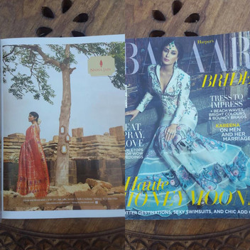 Advertisment shot for designer Naina Jain published in Harper's Bazaar Bride , India.