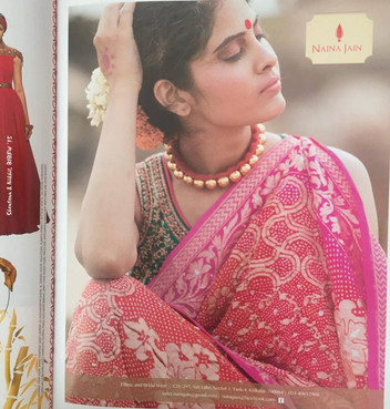 Advertisment for designer Naina Jain published in Harper's Bazaar Bride , India  2nd anniversary