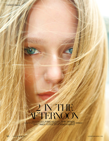 '2 in the Afternoon' Beauty editorial for Ellements Magazine