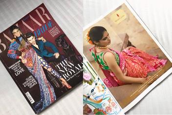 Harper's Bazaar Bride, India - Advertisement Shot published for designer Naina Jain .
