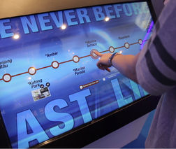Touchscreen panel, creating or converting digital content to touch enable. Highly sophisticated & engaging experience