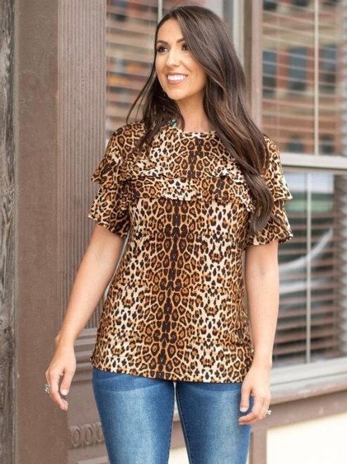 Leopard Ruffle