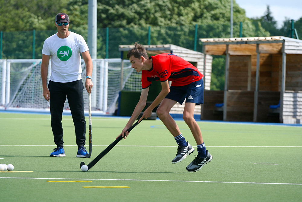 Callum Giles drag flick workshop Trojans Hockey club