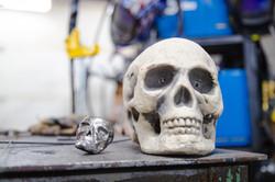 Skull carving for Alice Butterfly skull grim reaper