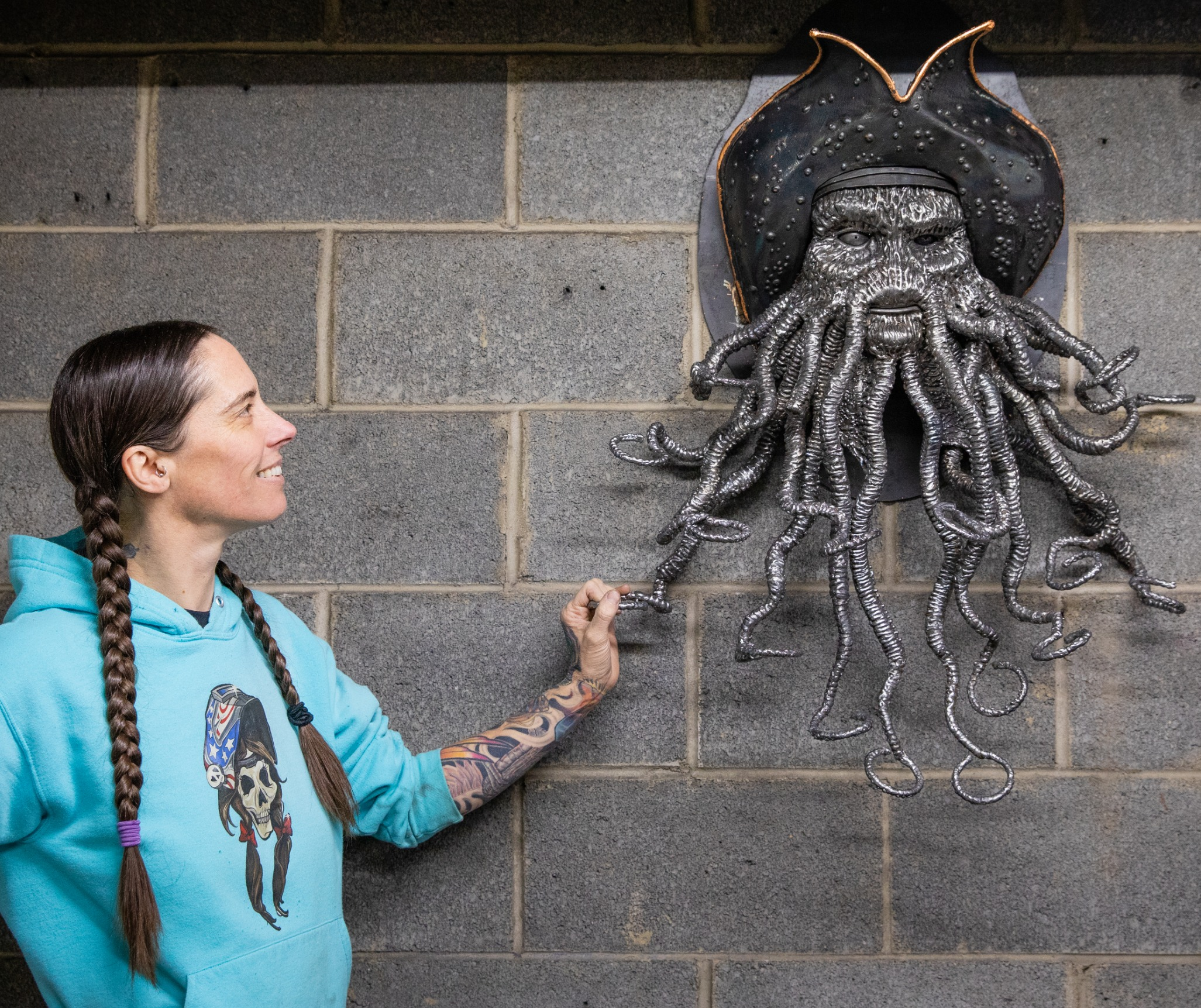 Davy Jones Barbie The Welder sculptor sc