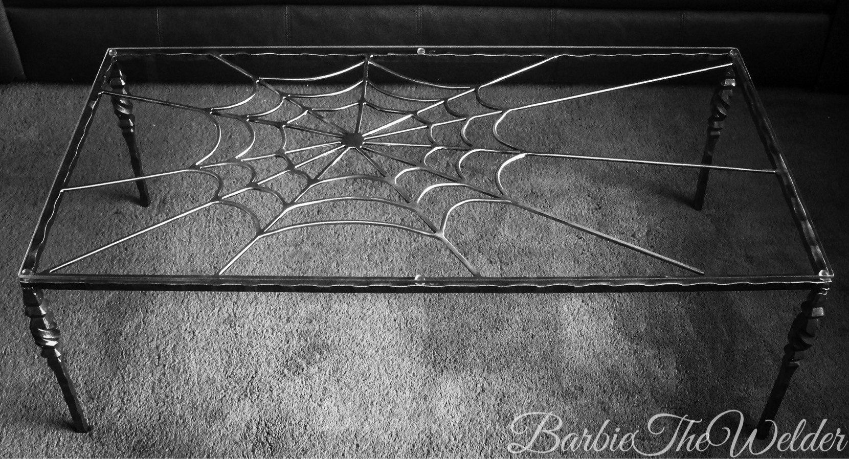 Spiderweb Coffee Table by Sculptor Barbi